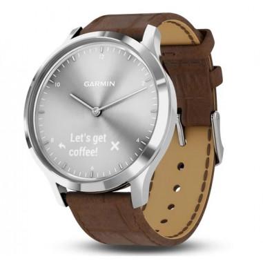 Garmin Vivomove HR Premium Silver Brown