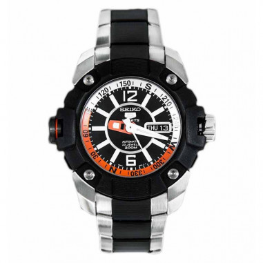 Seiko 5 SKZ265K1 Silver Black Orange...