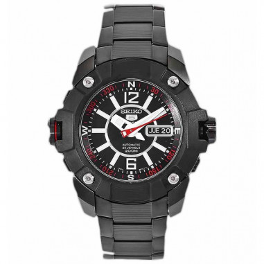 Seiko 5 SKZ267 Full Black Red 200 M