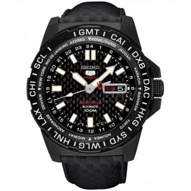 Seiko 5 Sports SRP723K1 Black Carbon...