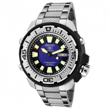 Seiko 5 SKZ245K1 Divers Silver Black...
